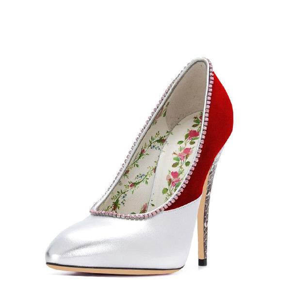 Floral Print Stiletto Heel Pumps #1-1