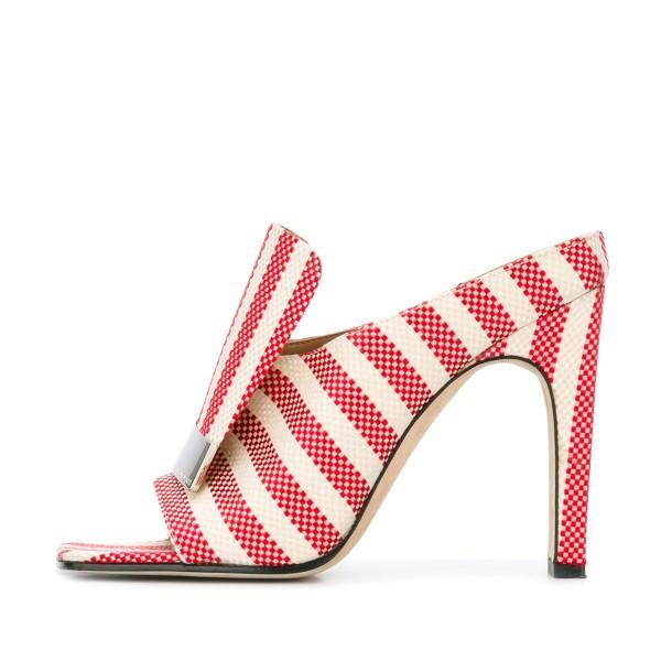 women-s-red-and-white-plaid-stripes-formal-chunky-heels-mule-sandals