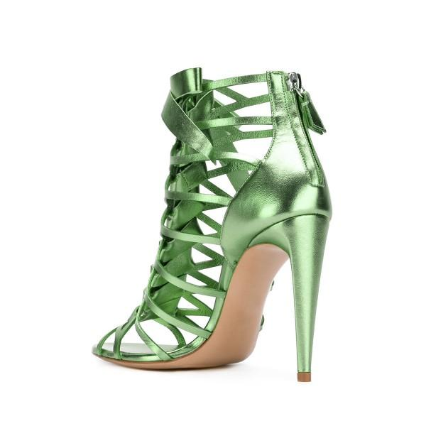 Stiletto Heel Gladiator Sandals with a Bow