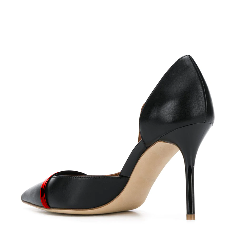Black Office Stiletto Heel Pumps
