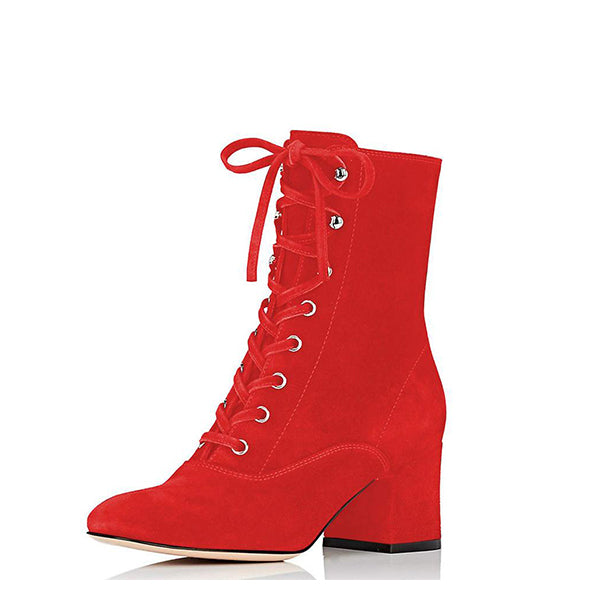 Suede Lace Up Boots #2