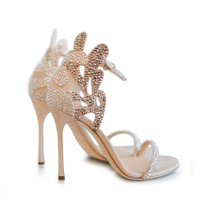 Rhinestones Stiletto Heel Sandals