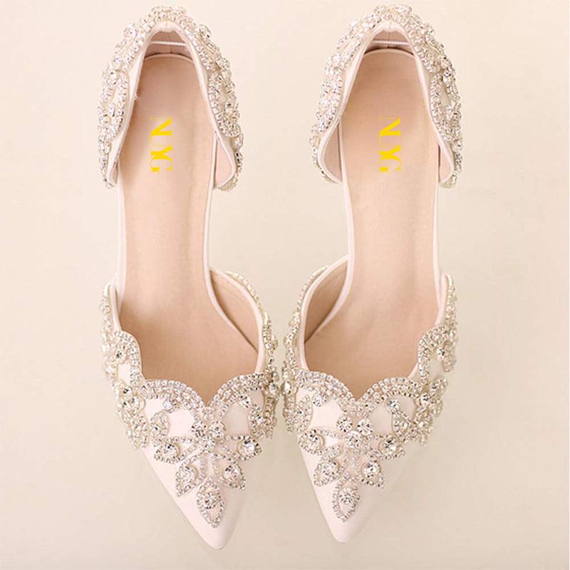 Rhinestones Stiletto Heel Pumps