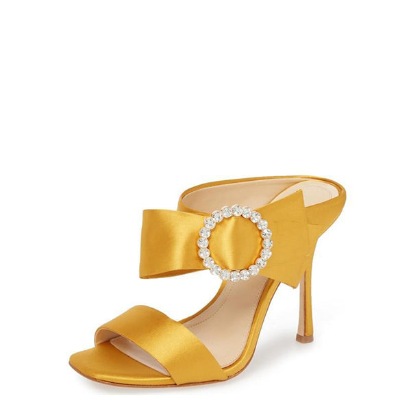 Satin Cut Out  Sandals