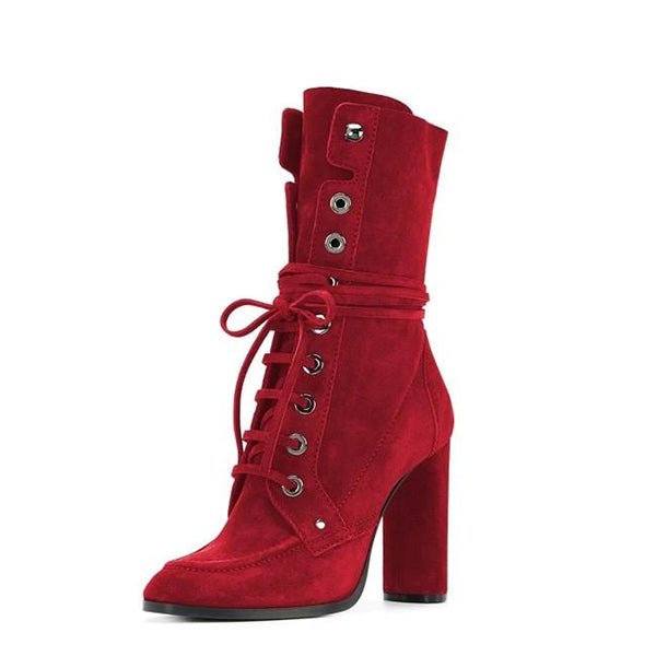 Suede Lace Up Boots #1