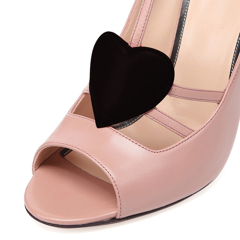 Pink Peep-toe Stiletto Heel Sandals