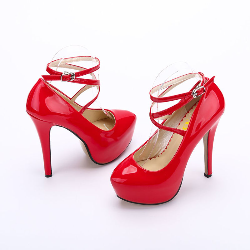 Patent Leather Stiletto Heel Pumps