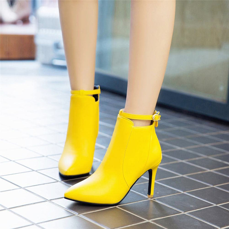 Ankle Strap Ankle Boots