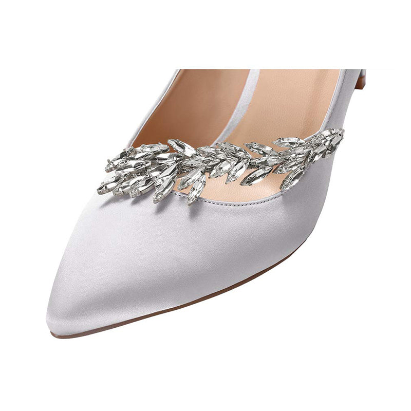 Rhinestones Stiletto Heel Pumps #1