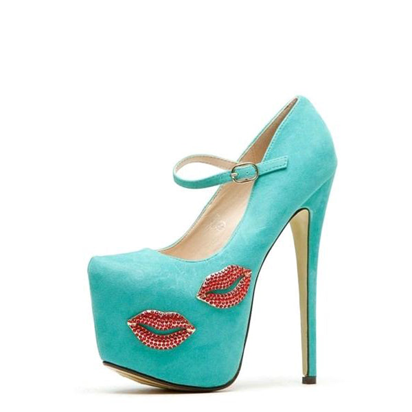 Rhinestones  Platform Stiletto Heel Pumps