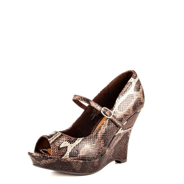 Python Print Wedge Heel Sandals