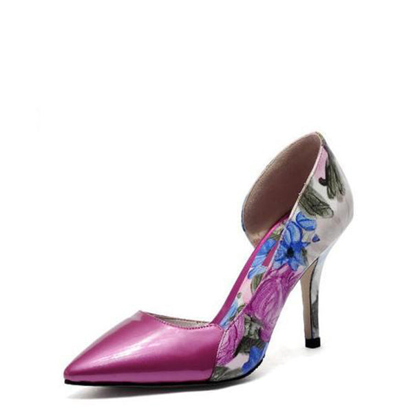 Floral Print Stiletto Heel Pumps #2-1