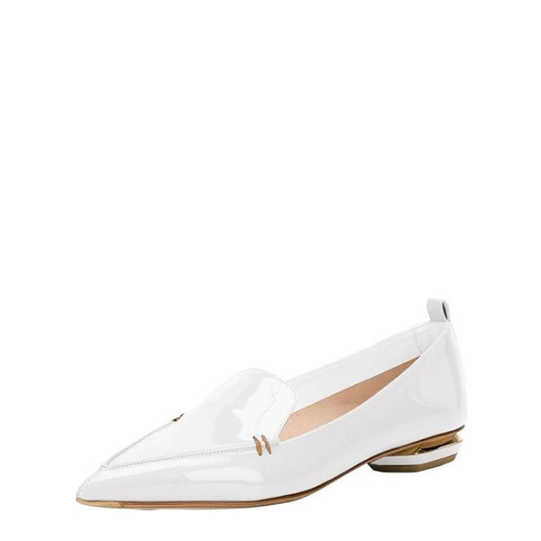 Patent Leather Pointed Toe Loafers