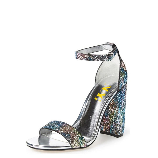Dazzling Ankle Strap Sandals-1