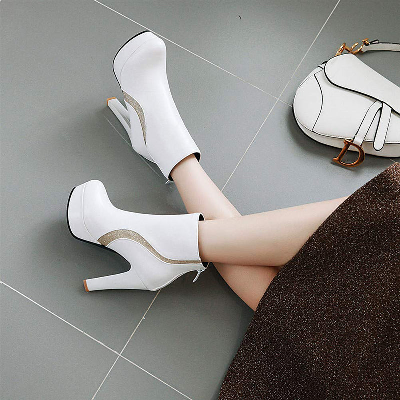 Platform Chunky Ankle Boots