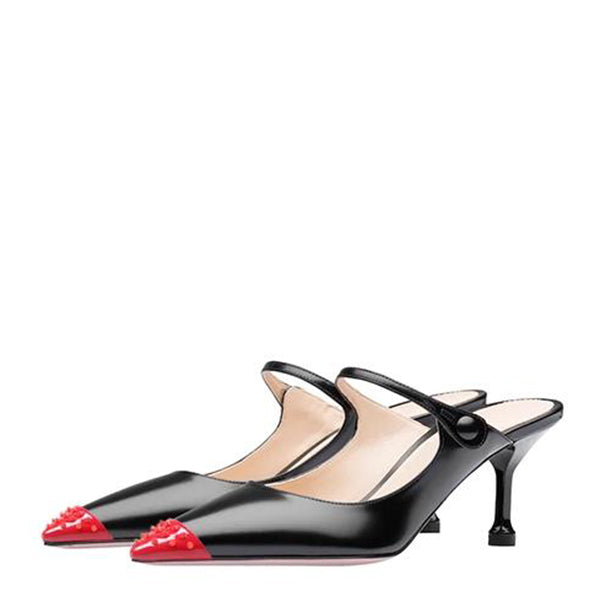 Rivets Patent leather Pumps