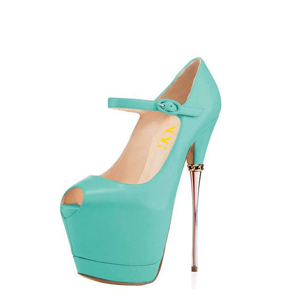 Platform Stripper Heel Pumps