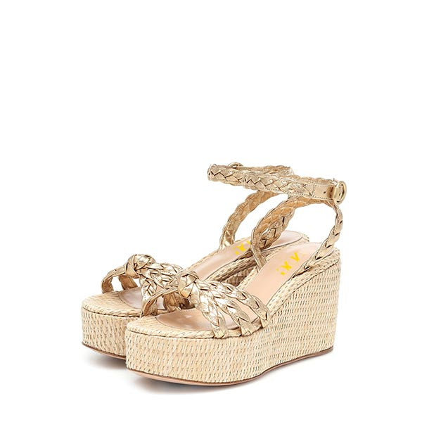 Ankle Strappy Platform Wedge Heel Sandals #2