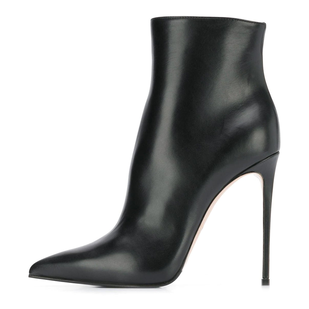 Black Pointy Toe Stiletto Heel Sexy Boots