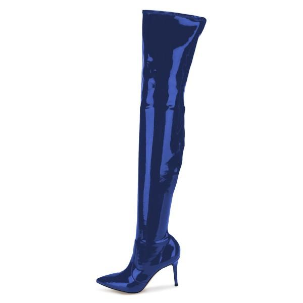 royal-blue-mirror-leather-pointy-toe-thigh-high-heel-boots