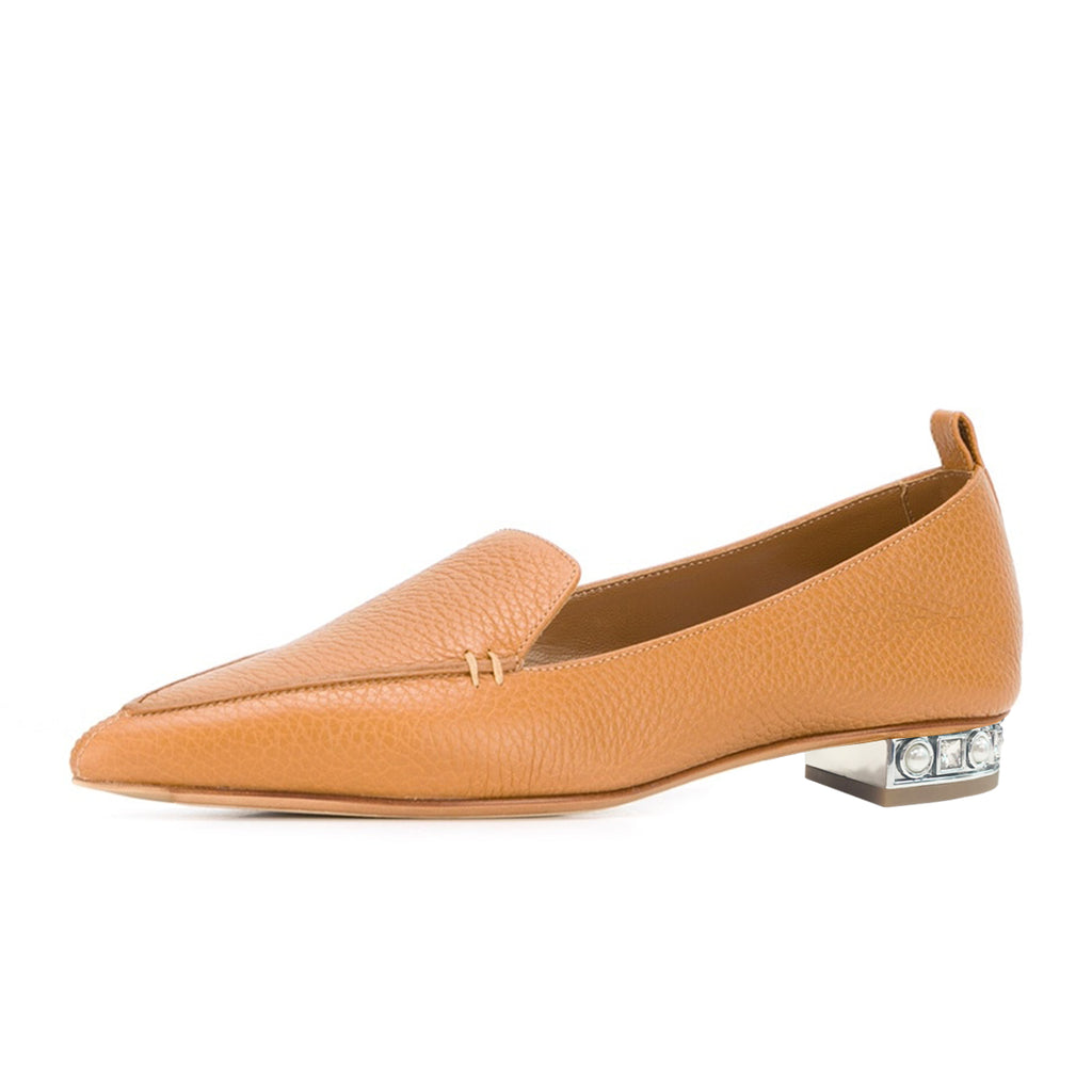 Mustrard Pointy Toe Comfortable Flats