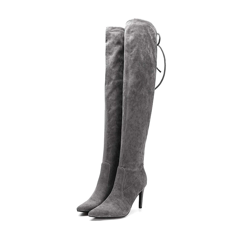 Suede Thigh High Boots #1