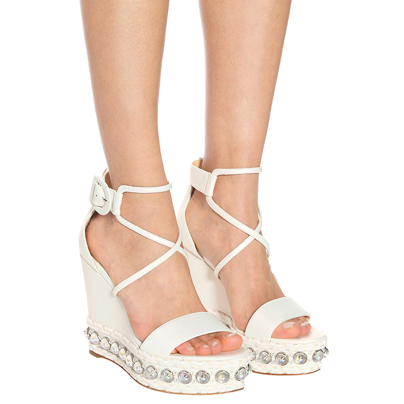 Ankle Strappy Platform Wedge Heel Sandals #1