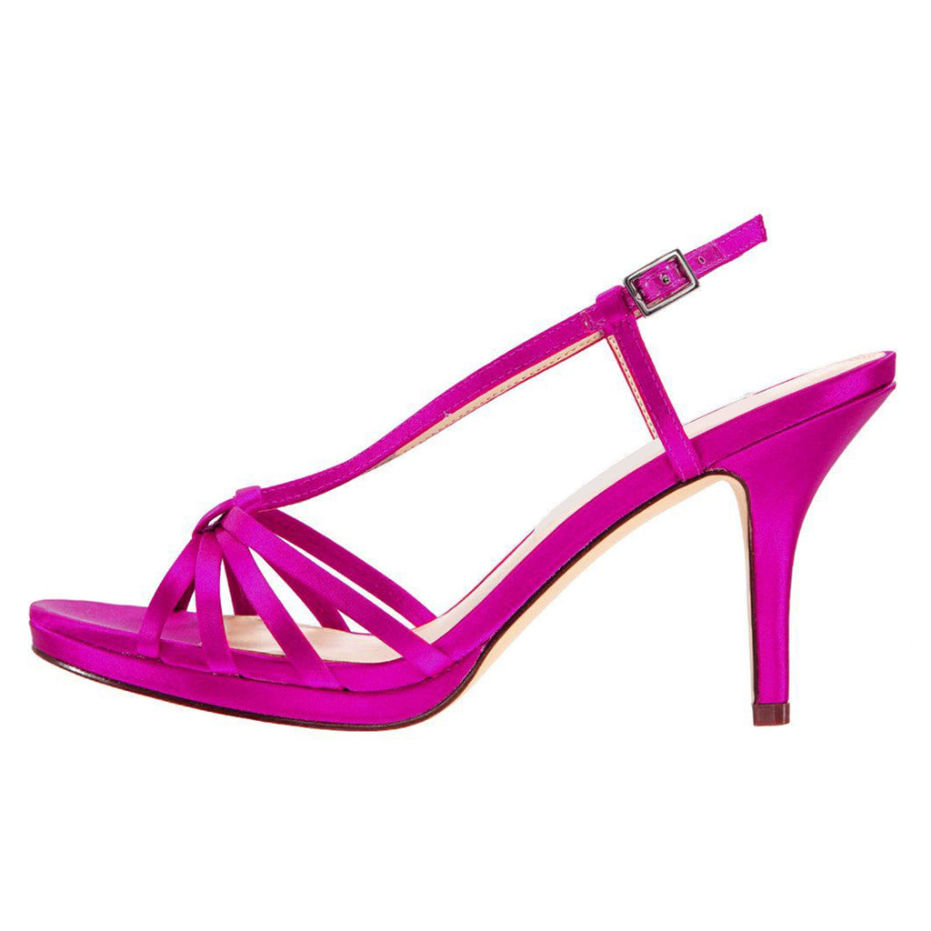 Purple Stiletto Heel Slingback Sandals