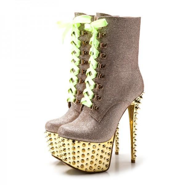 gold-and-champagne-stripper-shoes-lace-up-platform-booties-with-rivets
