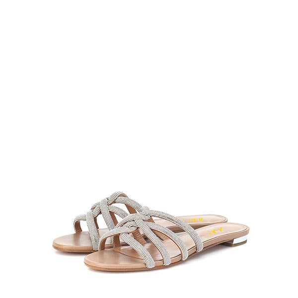 Silver Flats Commuting Mule Sandals