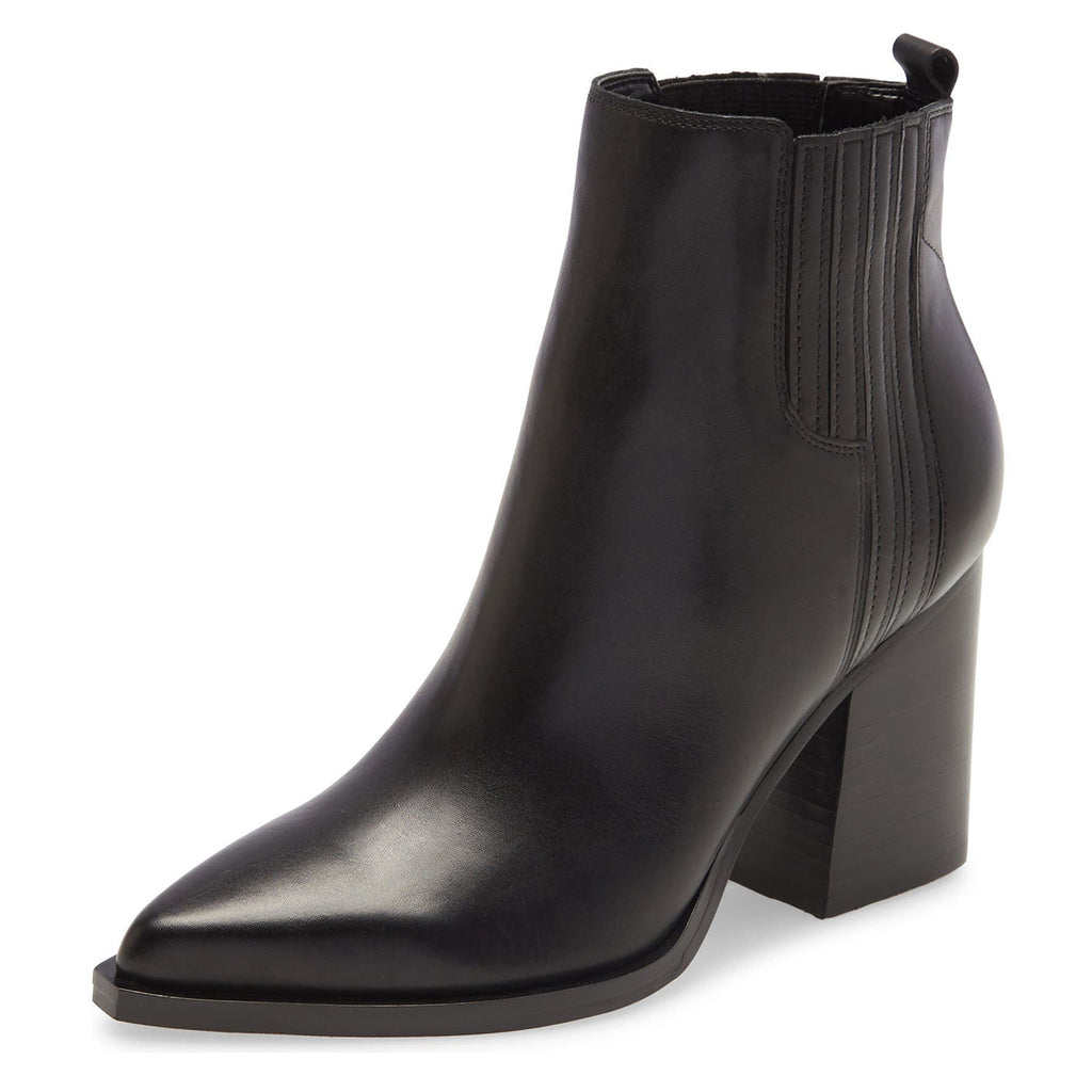 Women's Black Block Heel Ankle Boots