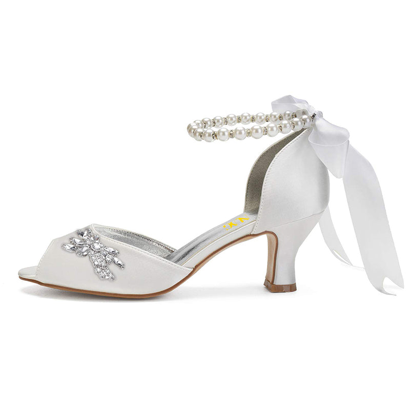 Pearl Ankle Strap Sandals