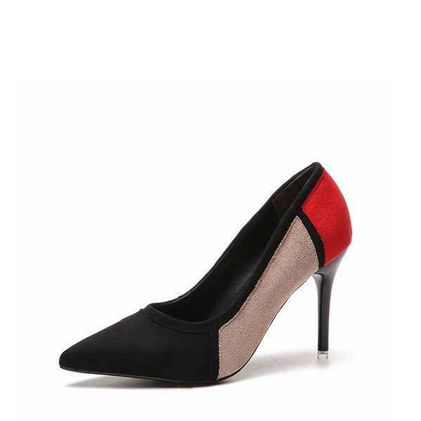 Colors-block Stiletto Heel Pumps