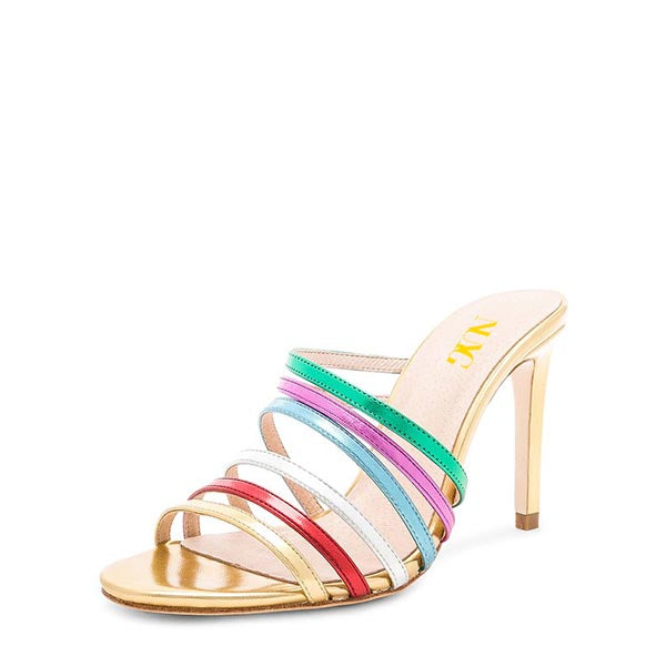 Stiletto Heel Mule Sandals #2