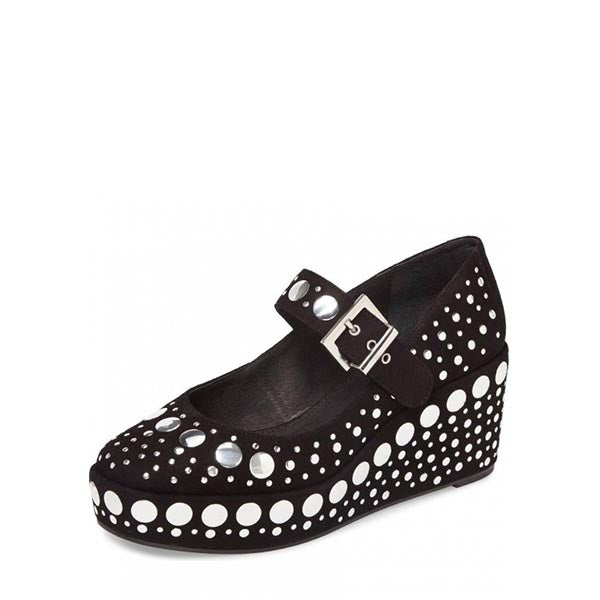 Wedge Heel Mary Jane Shoes