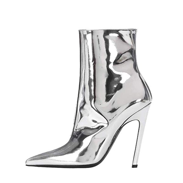 TPU Stiletto Heel Ankle Boots