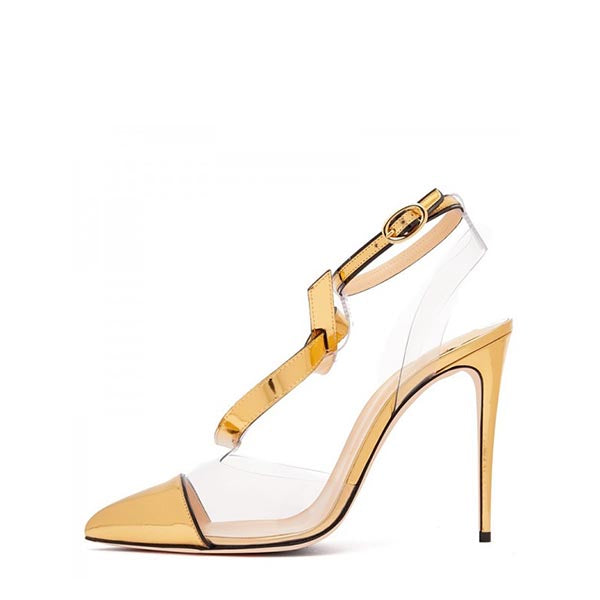 Clear PVC Stiletto Heel Pumps #2-1