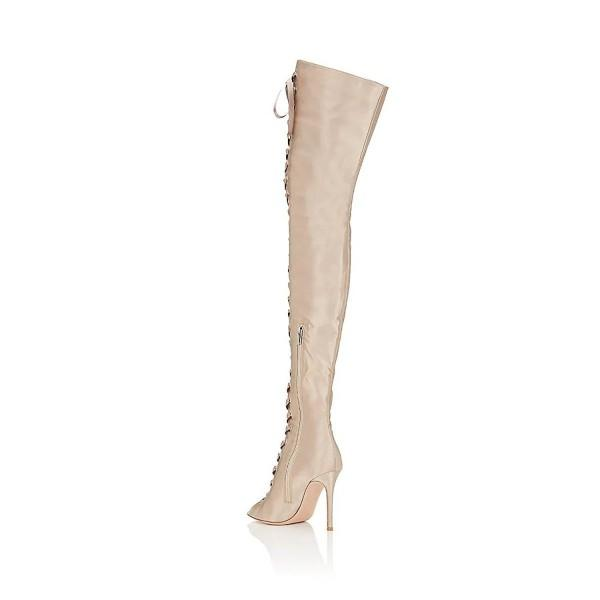 beige-lace-up-boots-suede-thigh-high-boots-stiletto-heels
