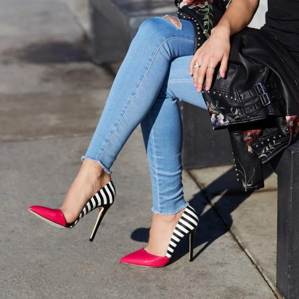 black-and-white-with-red-pointy-toe-stiletto-heels-pumps