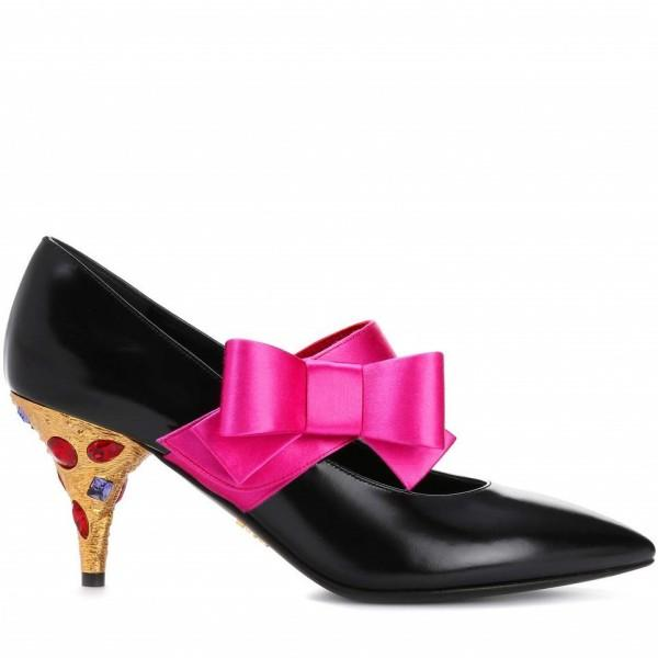 black-colors-rhinestone-cone-heels-mary-jane-pumps-with-hot-pink-bow