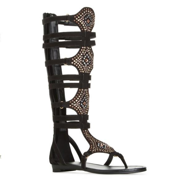 women-s-lelia-black-gladiator-sandals-rhinestone-strappy-comfortable-flats