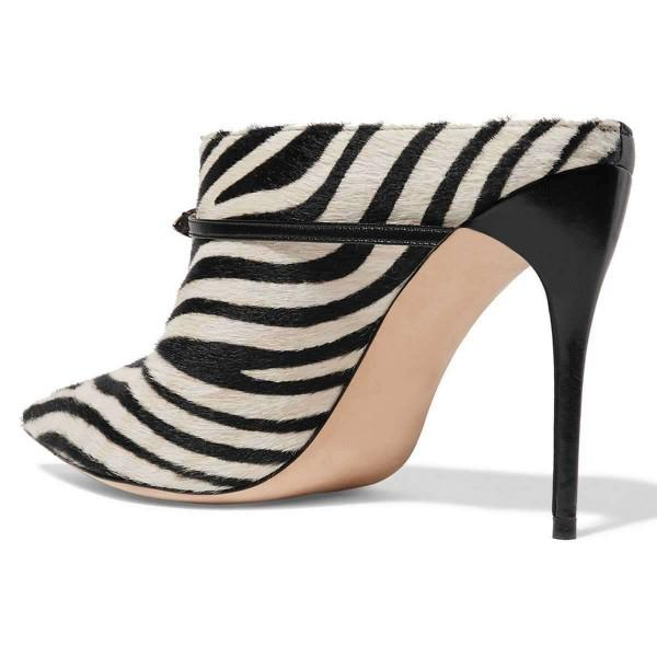 black-zebra-mule-heels-pumps