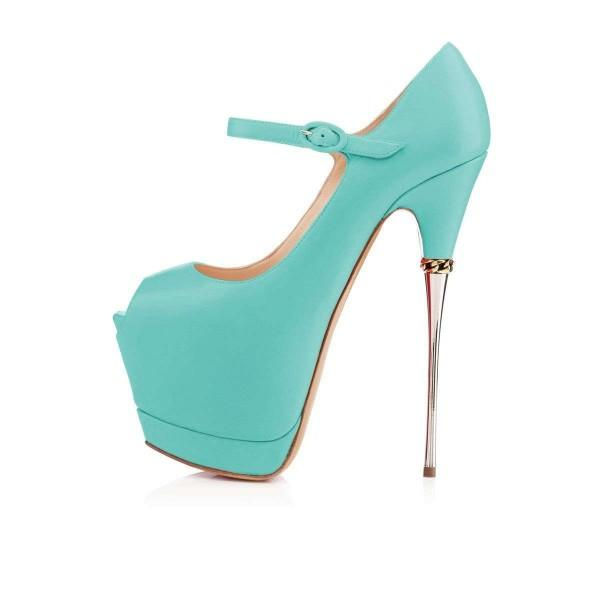 cyan-peep-toe-platform-mary-jane-stripper-heels