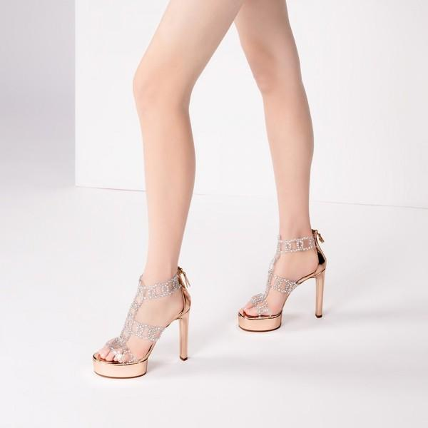gold-rhinestone-heels-t-strap-chunky-heels-sandals-with-platform