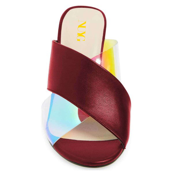 Hologram Clear Mule Sandals