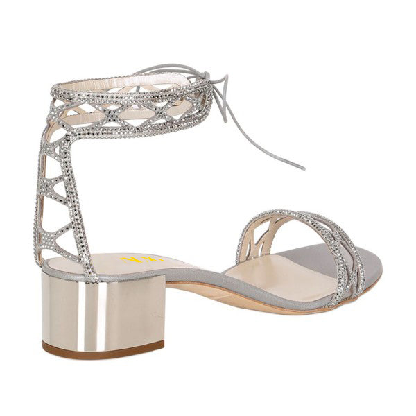 Laser Cut Rhinestone Wedding Sandals
