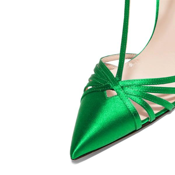 green-t-strap-sandals-satin-pointy-toe-stiletto-heel-formal-shoes