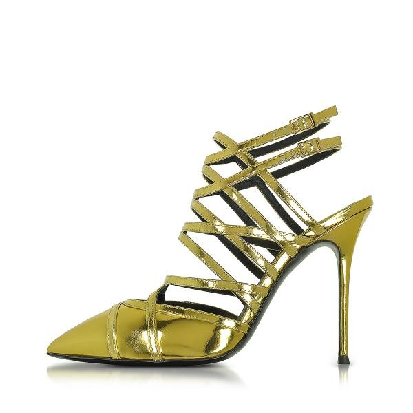 green-slingback-heels-strappy-sandals-closed-toe-stiletto-heels