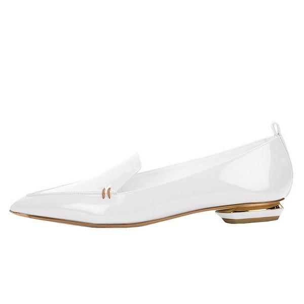 white-patent-leather-loafers-for-women-trendy-pointy-toe-flats
