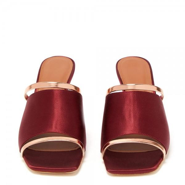 wine-red-satin-mule-heels